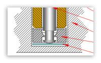 Фрагмент чертежа неразборного вентилятора.