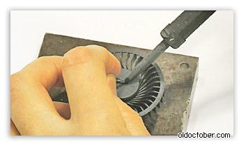 Заваривание технологического отверстия в крыльчатке.