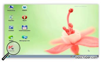 Интерфейс усечённой версии Windows 7 SP1, загружаемой с Live USB.