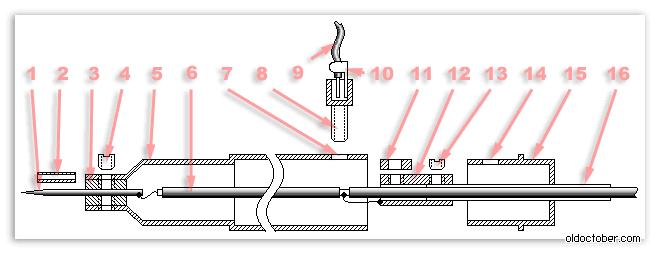 На чертеже изображён щуп в