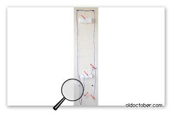 Крепление доски для сёрфинга к стене с помощью морских узлов.