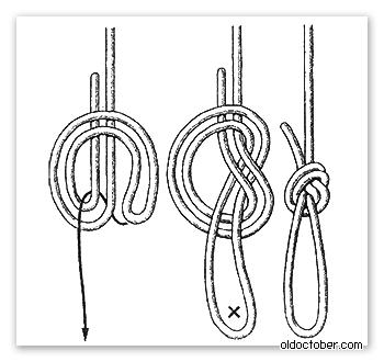 Схема морского узла Дубовая петля.