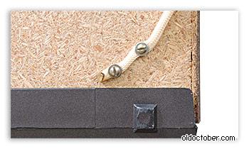 Вид на крепление канатика в нижней части корпуса телевизора.