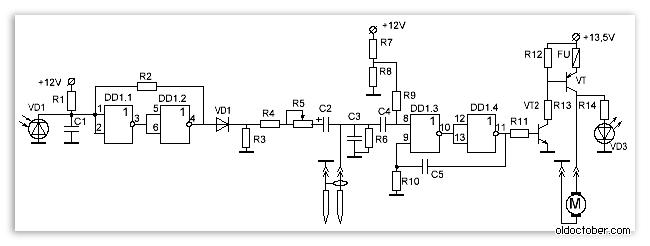 Электрическая схема простого