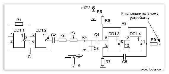 Электрическая схема порогового