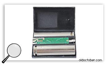Батарея Nikon EN-EL1 в разобранном виде.