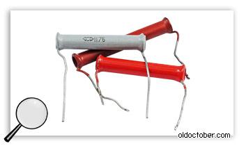 Трубчатые керамические конденсаторы.