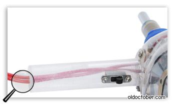 Ручка фена и переключатель мощности вентилятор.