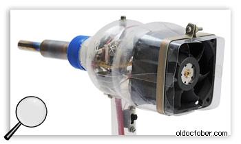 Вентилятор, закреплённый в ПЭТ бутылке.