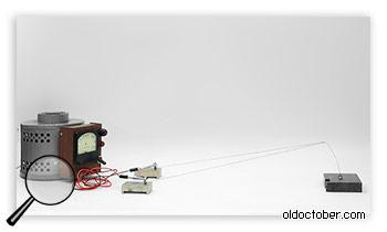 Приспособление для отжига проволоки электрическим током.
