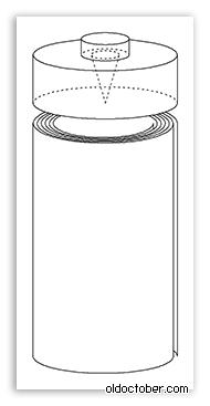 Эскиз батарейки, активирующейся по требованию.
