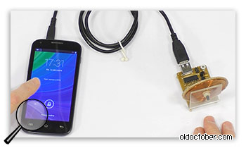 Подключение телефона к генератору свободной энергии для подзарядки.
