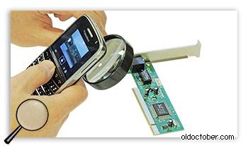 Съёмка мобильным телефоном с помощью лупы.
