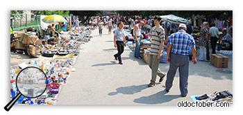 Блошиный рынок в Кишинёве.