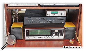 Видеомагнитофон ВМ-12, Тюнер Виктория 003 и самодельная цифровая шкала.