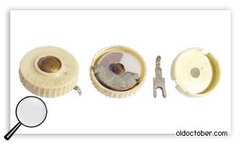 Старинный конденсатор переменной ёмкости.