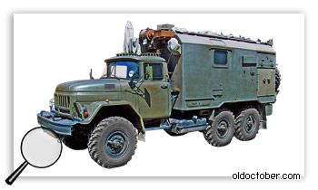 Мобильный вариант радиостанции, похожей на Р-137.