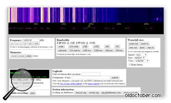 Интерфейс виртуального цифрового радиоприёмника.