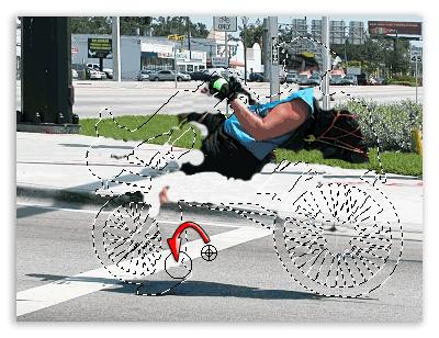 Копируем прилегающие к объекту участки изображения на фоновом слое.