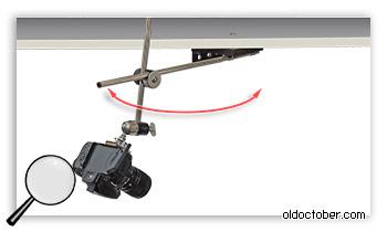 Штанга, обеспечивающая вращение камеры в горизонтальной полскости.