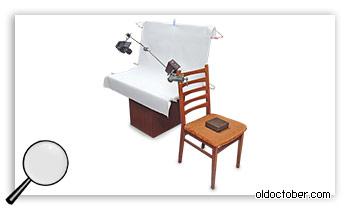 Стойка-журавль на основе обычного деревянного стула.