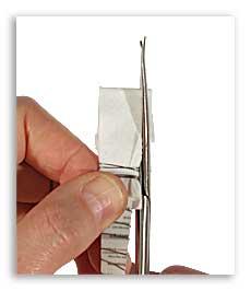 Подрезание салфетки под размер швабры