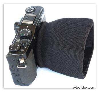Самодельная бленда на объективе камеры.