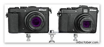 Самодельный стереофотоаппарат, собранный на скорую руку.