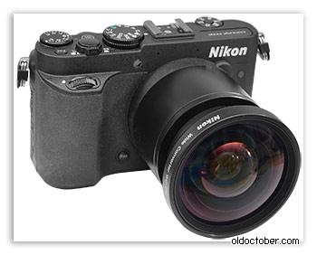 Камера P7700 с широкоугольным конвертором (Wide Lens Adapter) WC-E68.
