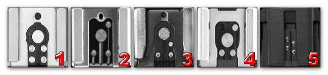 Горячие башмаки разных камер