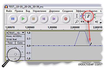 Формирование импульсов в аудио редакторе Audasity
