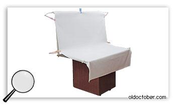 Предметный столик для видеосъёмки в собранном виде.