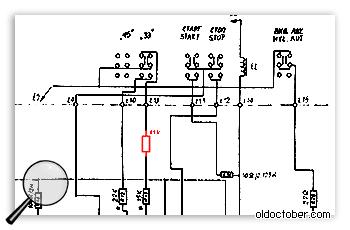 Электрическая схема проигрывателя грампластинок Unitra G602 (Вега 106).