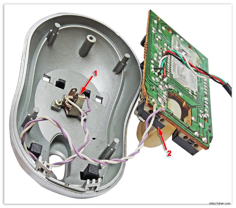 кнопок компьютерной мыши.