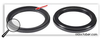 Понижающие кольца 58 – 46мм с выборкой и без выборки.