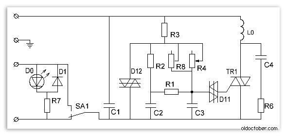 Схема фабричного диммера