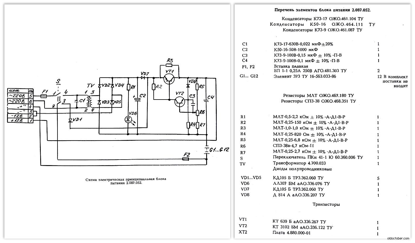 Схема и перечень элементов