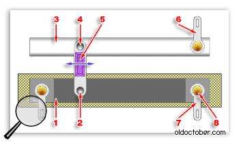 Схематическое изображение ползункового потенциометра.