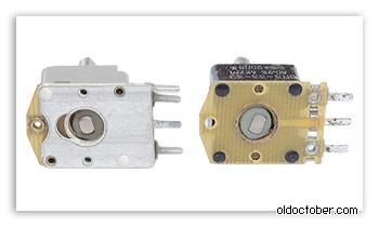 Две разных конструкции резисторов СП3-33.