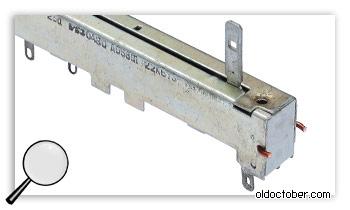 Сборка ползункового переменного резистора с помощью проволоки.