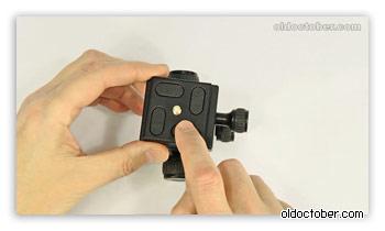 Резиновые башмаки быстросъёмной площадки для фиксации камеры.