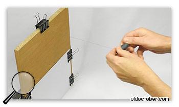 Измерение расстояния между мишенью и точечным источником света.