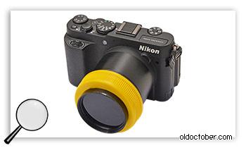 Защитный фильтр для фото-видео съёмки сварочных работ.