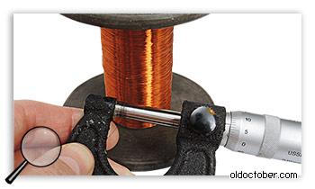 Тонкий медный провод ПЭВ2 диаметром 0,07мм.