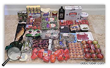 Продукты, купленные на мелкооптовой базе.