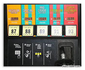Стоимость бензина.