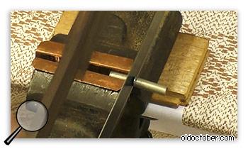 Распиловка прутка на заготовки.