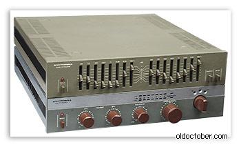 Усилитель и эквалайзер, собранные из наборов-конструкторов «Электроника».