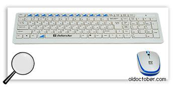 Беспроводная клавиатура и мышь Defender Skyline 895 Nano.